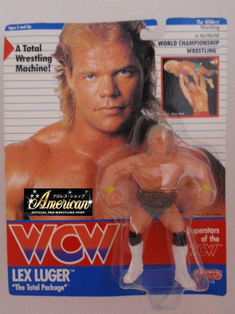 WCW galoob社製 `91年版  レックス・ルーガー ( リストバンド・イエロー&グリーンタイツ)  UKカード版