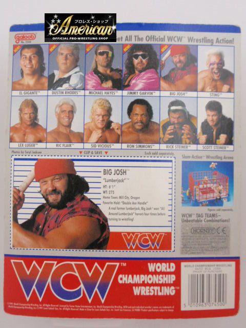 WCW galoob社製  ビッグ・ジョッシュ '91年ヨーロッパ限定  UKカード版