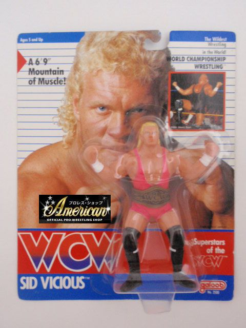 WCW galoob社製 `91版 シッド・ビシャス  ( ピンクタイツ)  UKカード版