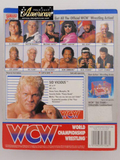 WCW galoob社製 `91年版 シッド・ビシャス   ( ピンクタイツ)  UKカード版