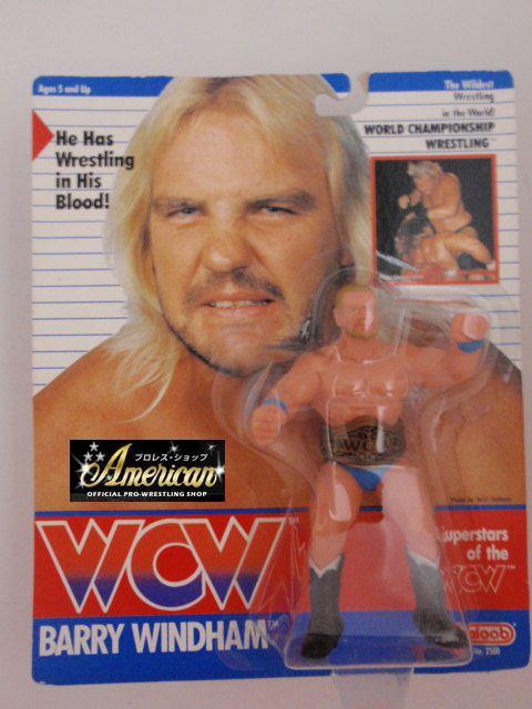 WCW galoob社製 `91年版 バリー・ウインダム (ブルー・タイツ)  UKカード版