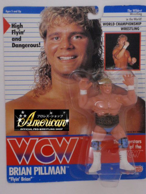 "WCW galoob社製 `91年版   "" "" ブライアン・ピルマン (スカイブルータイツ&ニーパット) UKカード版"