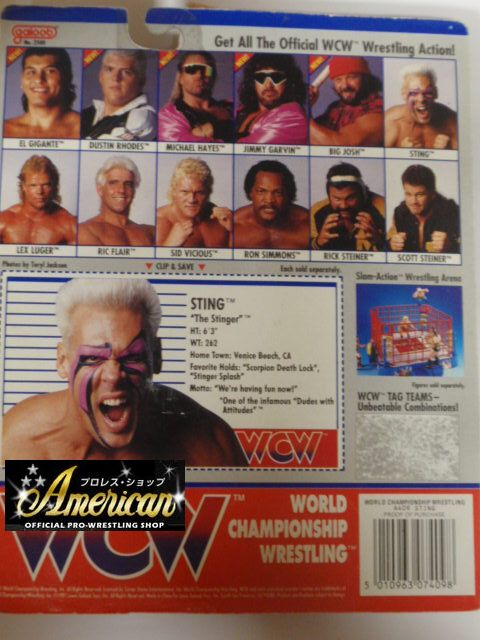 WCW galoob社製 `91年版  スティング(オレンジタイツ)  UKカード版