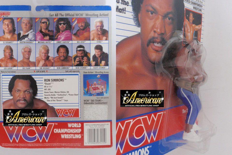 WCW galoob社製 `91年版  ロン・シモンズ(ライン・タイツ)  UKカード版